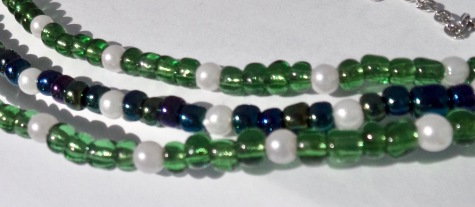 3 strand bead necklace