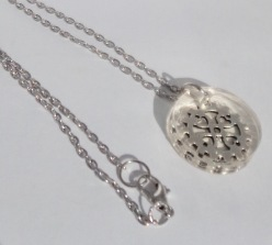 Silver Cog in Clear Resin on Silver chain