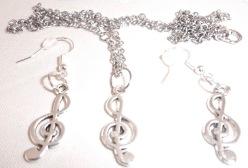 Treble Clef Jewellery set