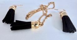 Black Tassel Jewellery Set