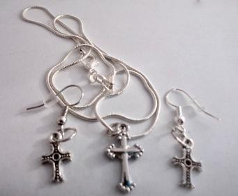 Crucifix Jewellery Set