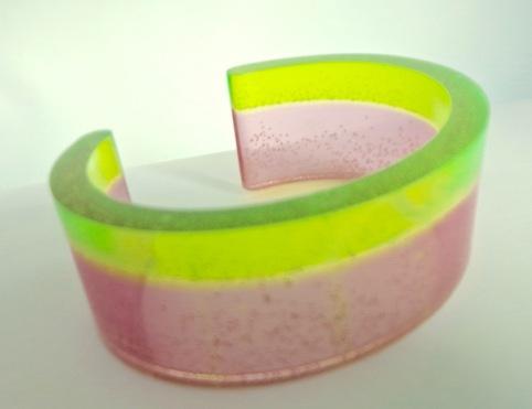 Pink & Green Stripe Cuff