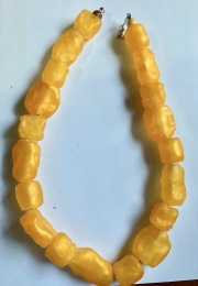 Yellow chunky resin necklace