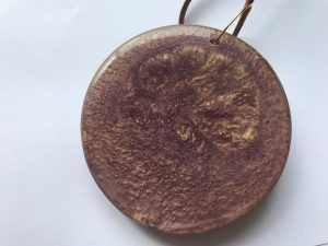 Purple & gold swirl pendant