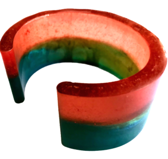 3 colour cuff bangle