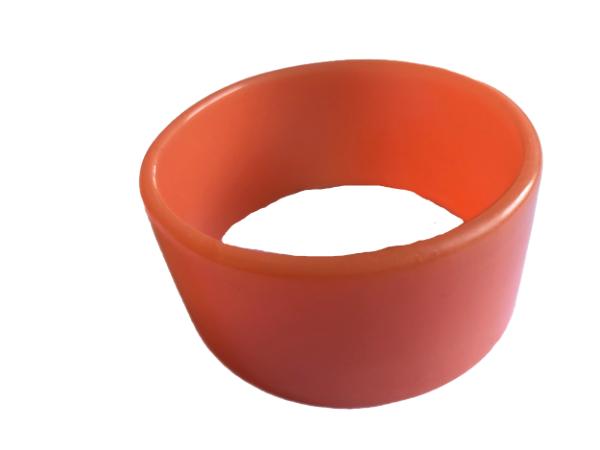 Orange straight edge bangle