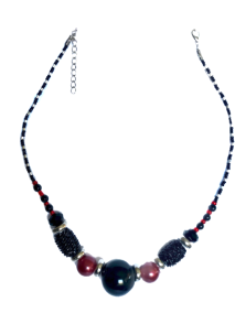 Red & Black glass beads