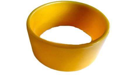 Yellow Straigh edge bangle
